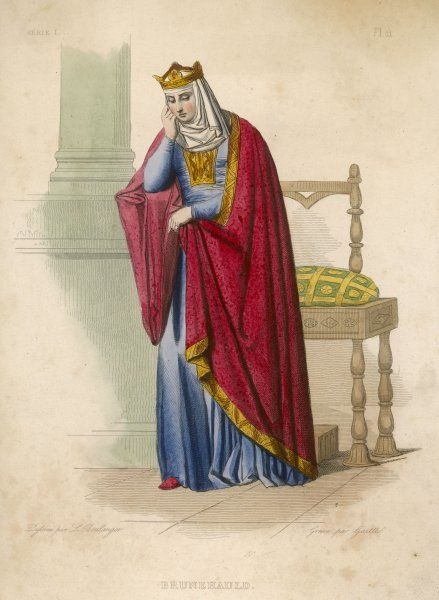 BRUNEHAUT (Brunhilde), REINE D'AUSTRASIE Frankish (French) Wife to Sigebert, King of Austrasia and Regent for her son, Childebert II. Died tied to a wild horse in her 80s