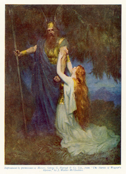 Act 3 : Brunnhilde pleads with Wotan, her father, to spare her the humiliation he proposes to inflict upon her