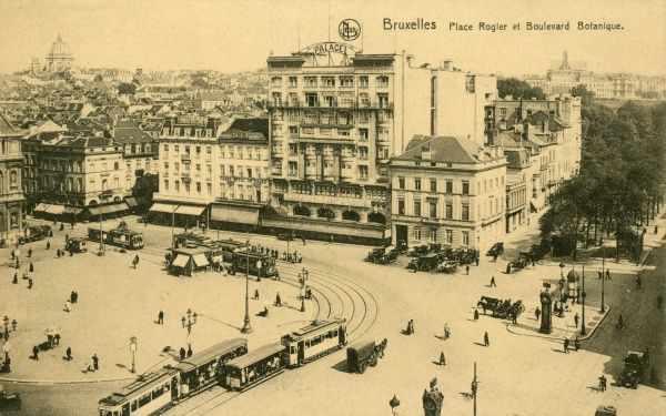 Brussels: Place Rogier and Boulevard Botanique Date: circa 1900