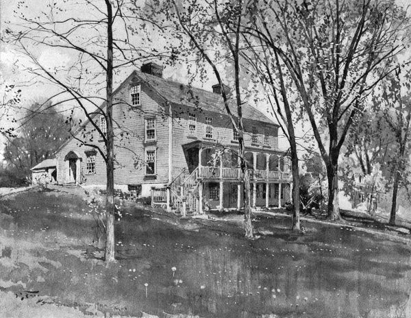 William Cullen Bryant - his home at Great Barrington. Date: 1900