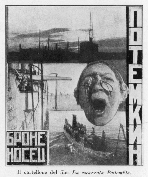 Advertising poster for Sergei Eisenstein's 1925 film 'Battleship Potemkin&#39