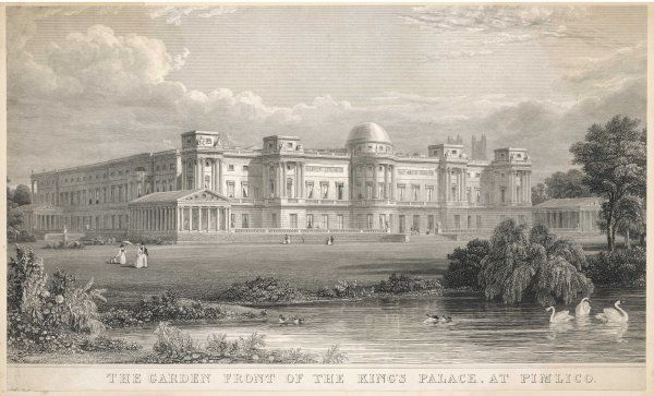 'The Garden Front of the King's Palace, at Pimlico' after Nash had effected his improvements