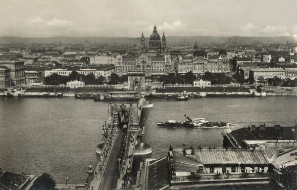 Budapest, Hungary - View across Danube toward the Parliament Building with St