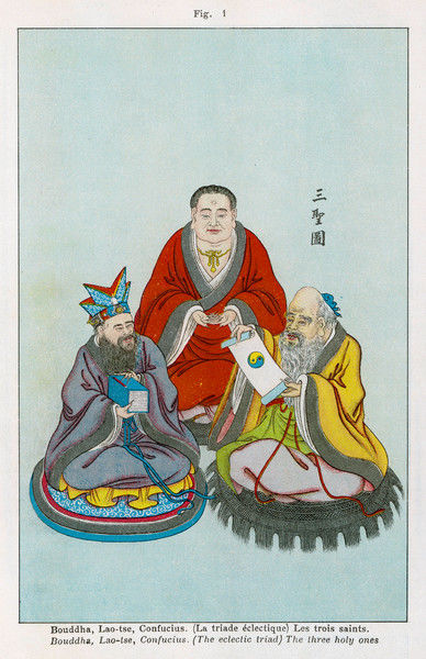 The three great Chinese teachers of spiritual wisdom - BUDDHA, LAO-TZU, and CONFUCIUS