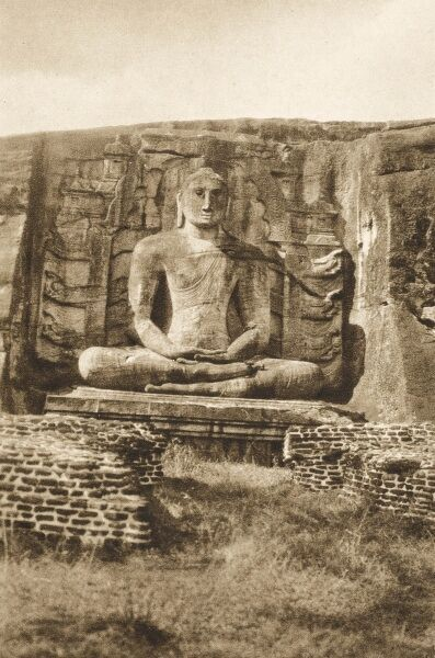 Statue of Buddha at Polonnaruwa, Sri Lanka