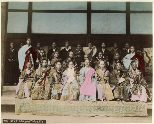 A group of Japanese Buddhist priests