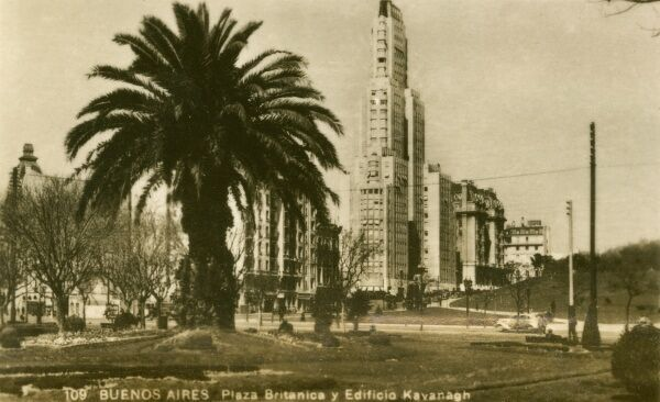 Argentina - Buenos Aires - British Plaza and Kavanagh Building. Photo (19/40) from a fold-out set