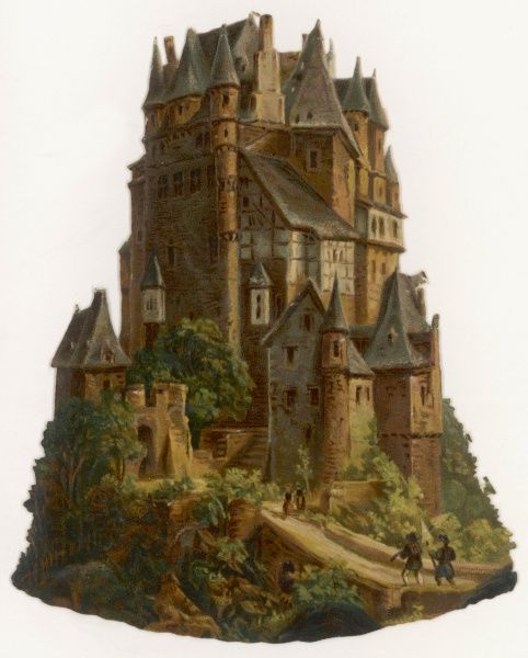 A representation of a fortified castle (possibly German)