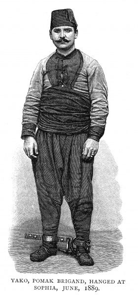 Portrait of a Pomak bandit, Yako, hanged at Sophia in June 1889. 1889