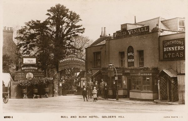 The 'Bull and Bush' on Golder's Hill, Hampstead, one of the best-known of London suburban pubs & commemorated in a famous music-hall song