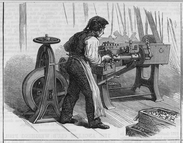 The manufacture of bullets for the Ashantee expedition, at Woolwich Arsenal, London 1 of 4