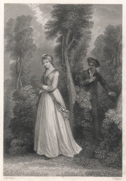 THE LASS OF BALLOCHMYLE With careless step I onward strayed, My heart rejoiced in nature's joy, When musing in a lonely glade, A maiden fair I chanced to spy
