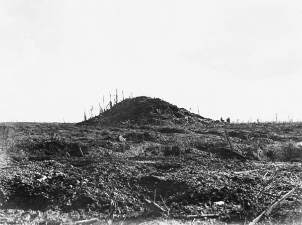 The Butt in Polygon Wood, Belgium on the Western Front during World War I in 1917