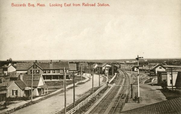 Buzzards Bay Massachusetts, Looking East from the railway station