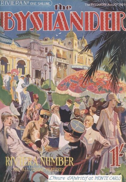The front cover of The Bystander- 'L'Heure d'Aperitif at Monte Carlo.&#39
