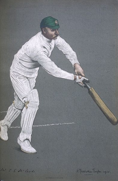 Charlie E McLeod - Cricketer for Victoria and the Australian Test side (1894/5 until 1905)