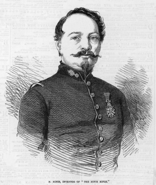 CLAUDE-ETIENNE MINIE French army officer, inventor of the conical-pointed cylindrical bullet (1849) and of the 'Minie Rifle&#39