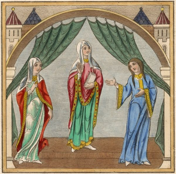 Three noblewomen Date: 12th century