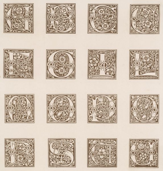 Decorative initials from an early French printed book