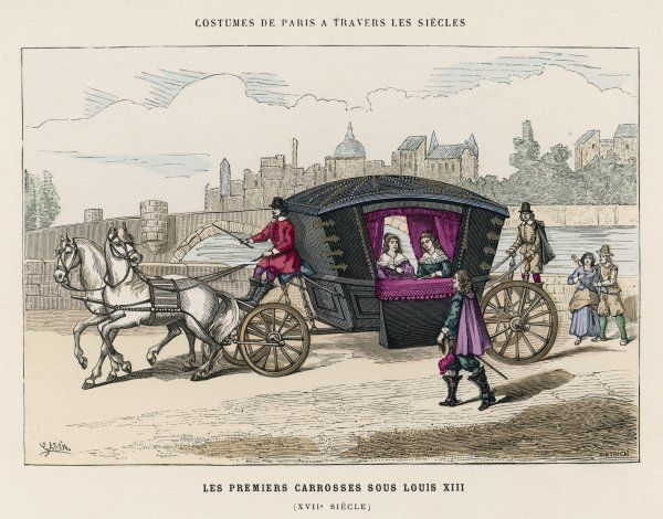 A French CARROSSE - the earliest type of private carriage
