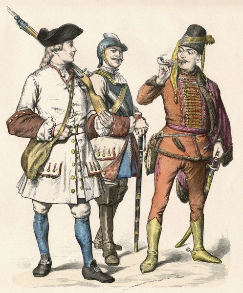 AUSTRIAN SOLDIERS Date: 1728