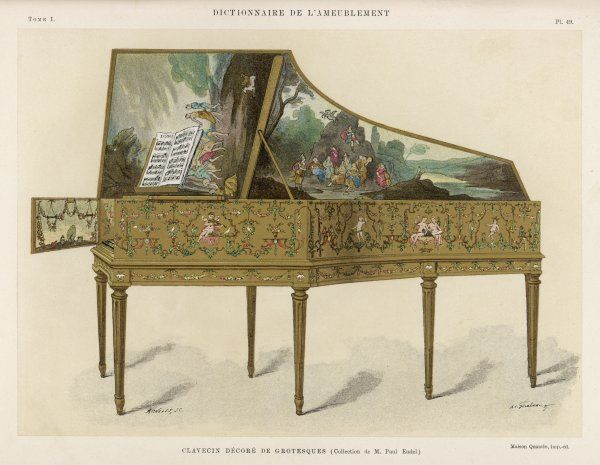 A richly decorated French clavichord fit to grace the most aristocratic home