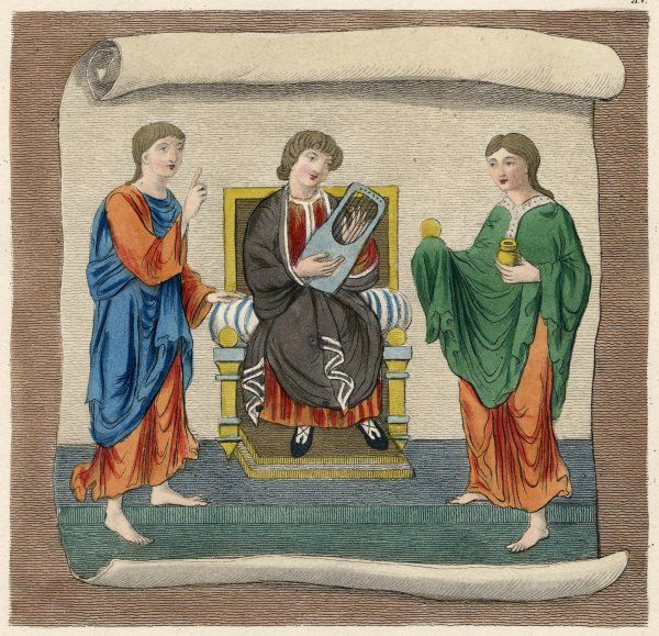 Ecclesiastical habits, priests singing and making music