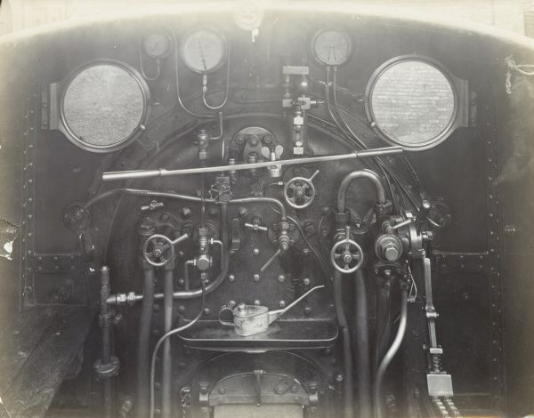 Cab view of an unidentified locomotive Date