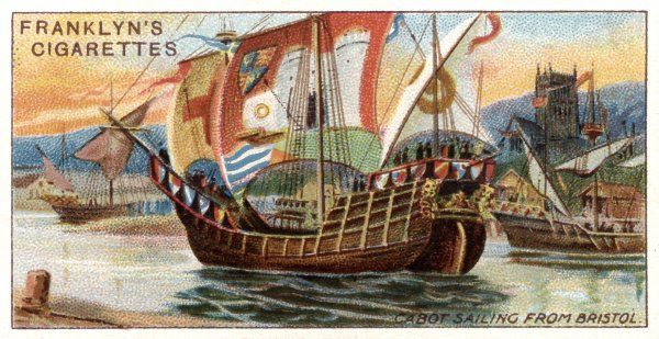 John Cabot sails from Bristol to Newfoundland