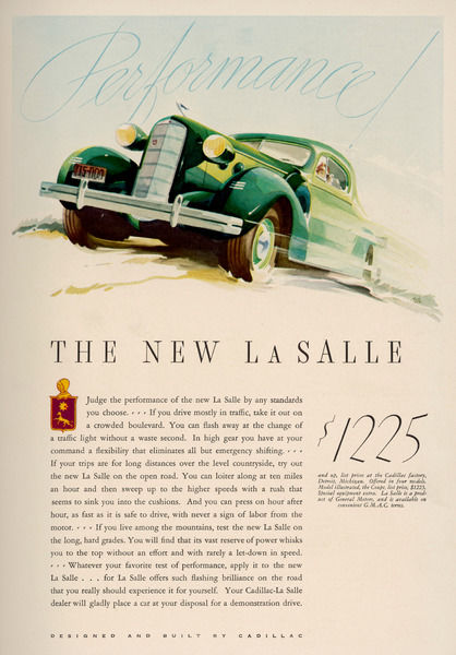Performance is the promise of the new La Salle from Cadillac
