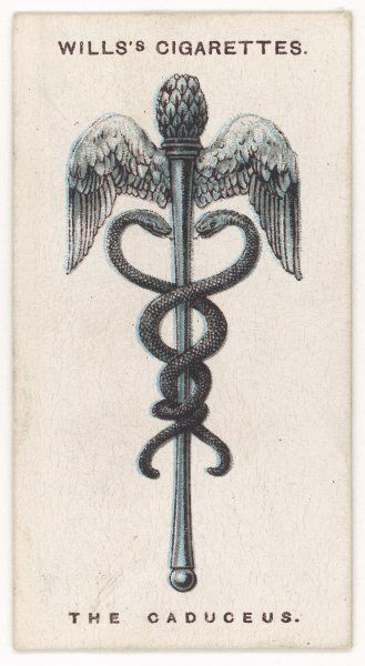 CADUCEUS TALISMAN symbolising wisdom and health, it was adopted by the medical profession who possess the first and bestow the second
