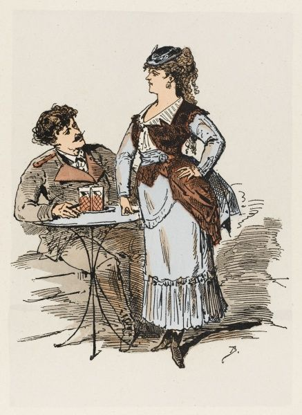 One of the civilian delegates to the Commune is a waitress at the Cafe de Madrid. Date: March-May 1871