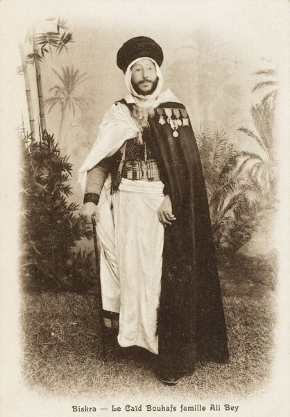 The Caid Bouhafs - Important local Algerian Chief from Biskra