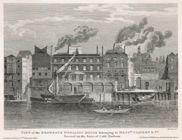 Calvert's Brewery, London External view ; erected on the site of Cold Harbour