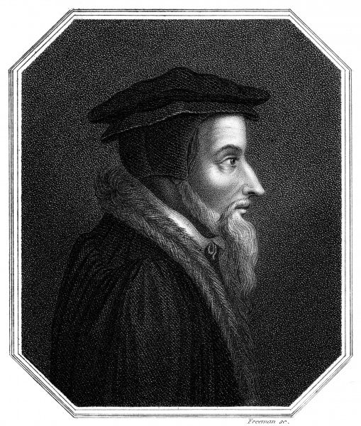 JEAN CALVIN French theological reformer, active in Switzerland Date: 1509 - 1564