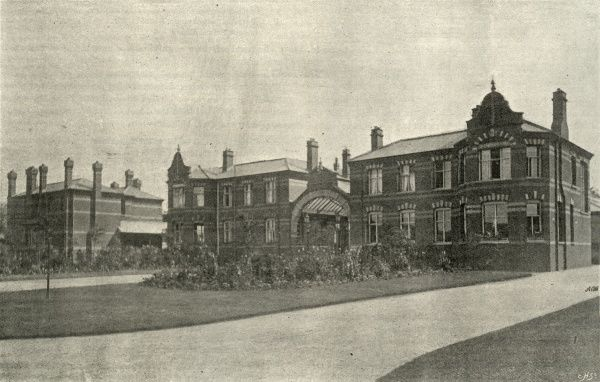 The administrative block of the Camberwell workhouse opened in 1895 on Constance Road, East Dulwich, south London