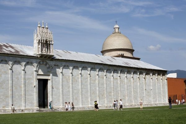 The Camposanto Monumentale or Monumental Cemetery in the Piazza del Duomo in Pisa, Italy