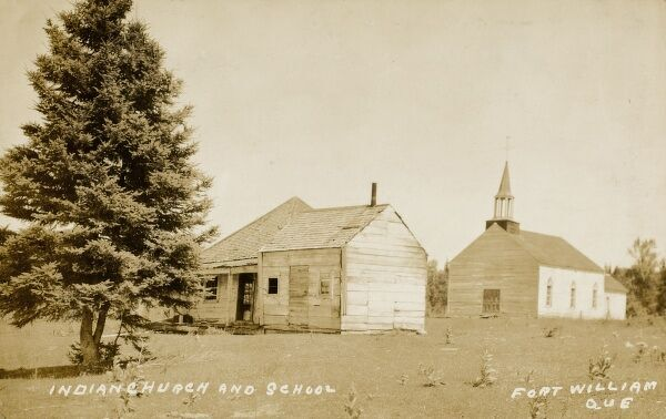 Canada - Fort William, Quebec - Indian Church & School