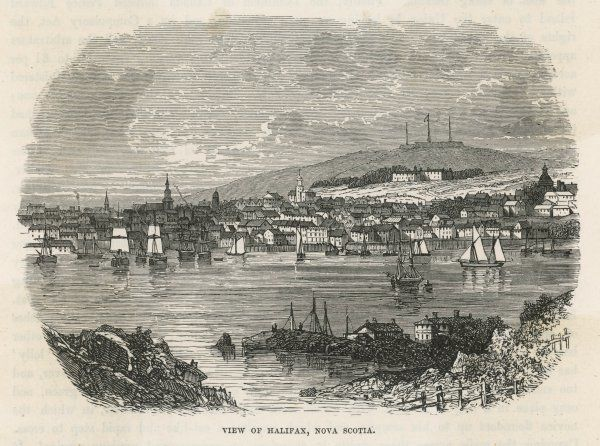 A view of the pretty town and harbour of Halifax