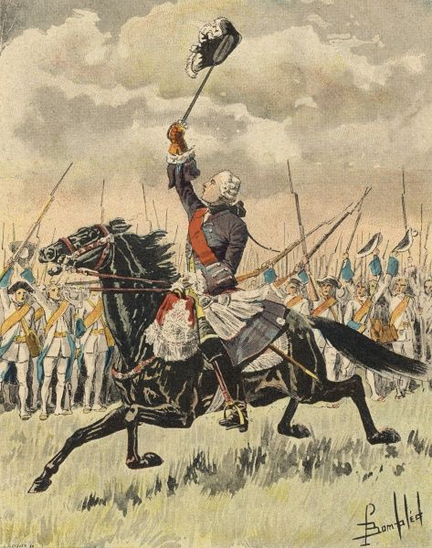 CANADA : BATTLE OF SAINTE-FOYE Le chevalier de Levis, Montcalm's successor, leads the French against the English, outside Quebec, and scores a minor victory