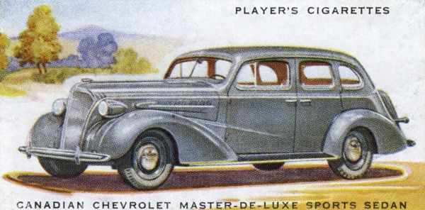 Canadian Chevrolet Master-de- luxe sports sedan. though it doesn't look particularly sporty to me. Date: 1937