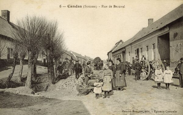 Candas - Somme Region, Picardie, Northern France. Rue de Beauval. Date: circa 1910s