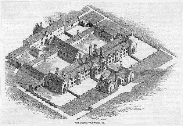 An isometrical view of the proposed Workhouse to be built at Canterbury, Kent