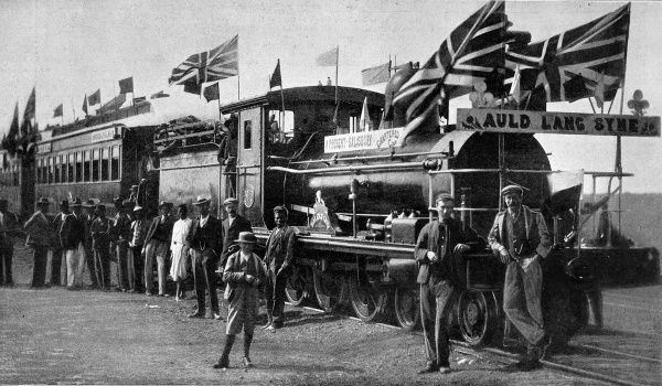 The Cape to Ciaro Railway, on June 19th 1899 celebrations began at Beira to signalise the opening of the line to Salisbury