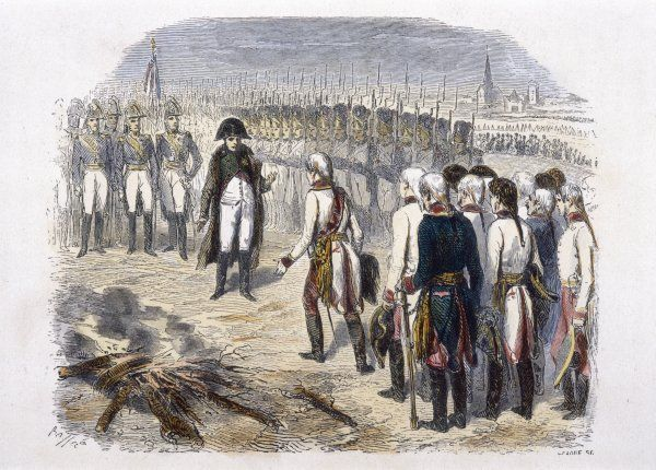 CAPITULATION OF ULM After being out-manoeuvred by Napoleon who surrounds his entire army, Austrian general Mack surrenders, for which he will be court-martialled