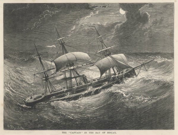 HMS Captain in the Bay of Biscay