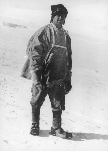 Captain Robert Falcon Scott (1868 - 1912), British polar explorer pictured in his kit during his ill-fated expedition to the South Pole