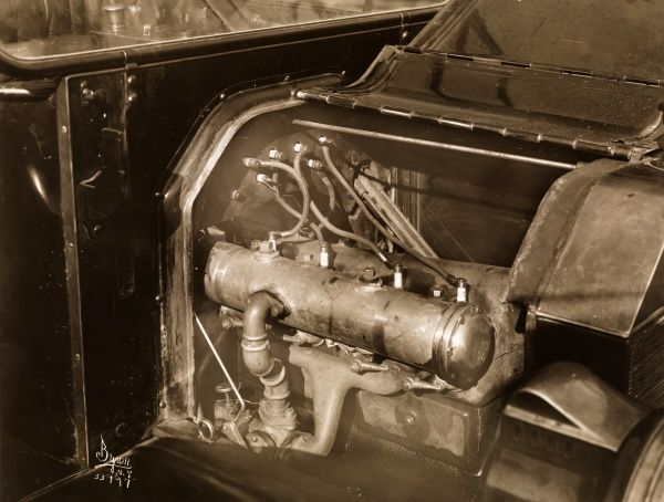 Automobile (Cars). Close-up of an automobile engine