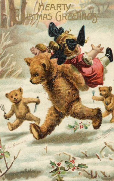 Goldilocks is abducted by hungry bears !