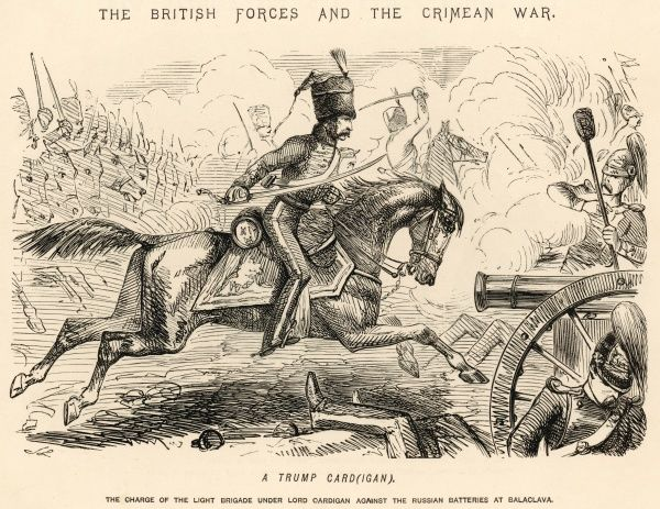 Lord Cardigan depicted as the hero of the Charge of the Light Brigade